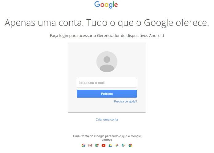 Como rastrear celular pelo google-passo1