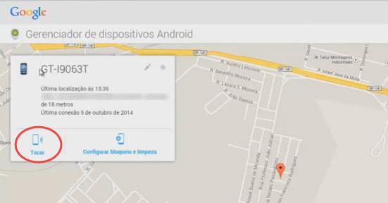 Como rastrear celular pelo google-passo5.1