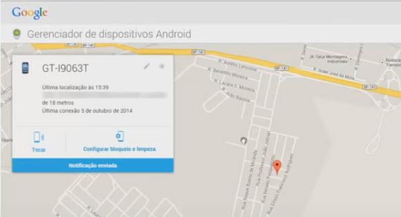 Como rastrear celular pelo google-passo7