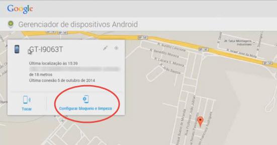 Como rastrear celular pelo google