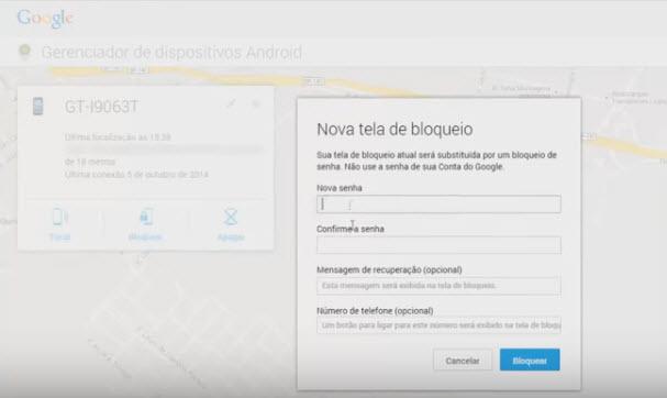 Como rastrear celular pelo google-passo11