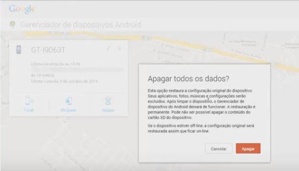Como rastrear celular pelo google-passo15