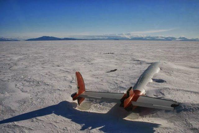 os restos de Pegasus em McMurdo Sound, Antarctica