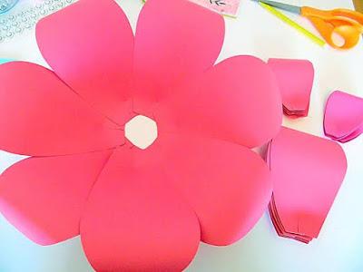 flores de papel artesanal