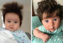Foto de Pais compartilham fotos de bebês cabeludos viram sucesso na internet