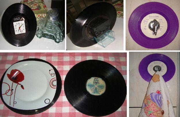 artesanato com disco de vinil
