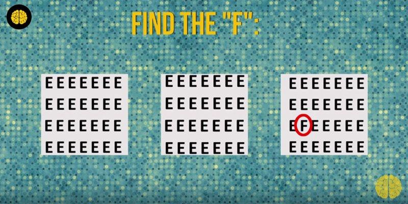 Teste o seu cérebro: você consegue encontrar as letras? 8