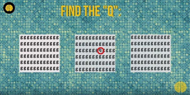 Teste o seu cérebro: você consegue encontrar as letras? 9