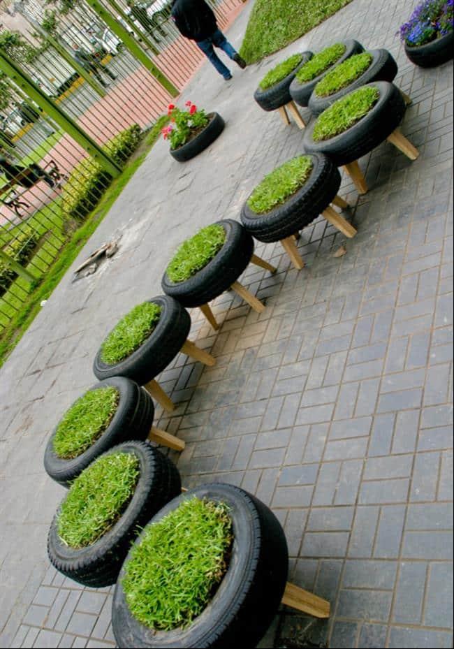 22 Ideias para reaproveitar pneus velhos