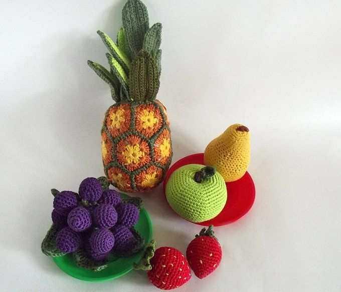 frutinhas em crochê