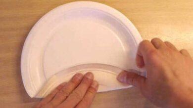 Como transformar um prato de papel numa simples caixa d