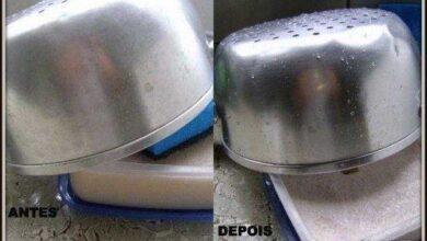 Pasta caseira para dar brilho em suas panelas