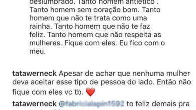 Foto de Seguidora critica Tatá Werneck e atriz dá resposta magnífica