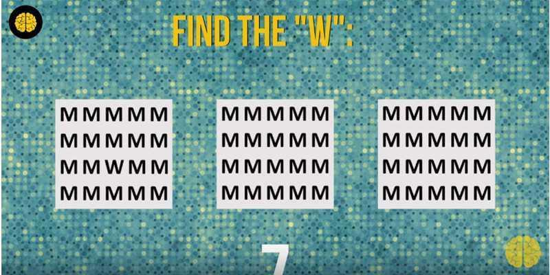 Teste o seu cérebro: você consegue encontrar as letras? 1