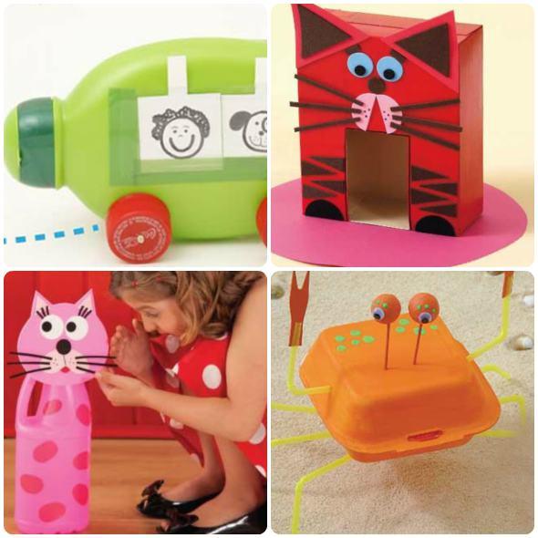 Brinquedos reciclados para crianças