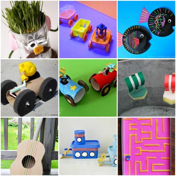 Brinquedos com reciclagem para o Dia das Crianças