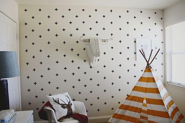 textura de parede com fita isolante