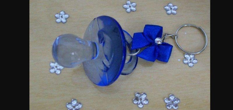 acrilico para lembrança de chá de bebe