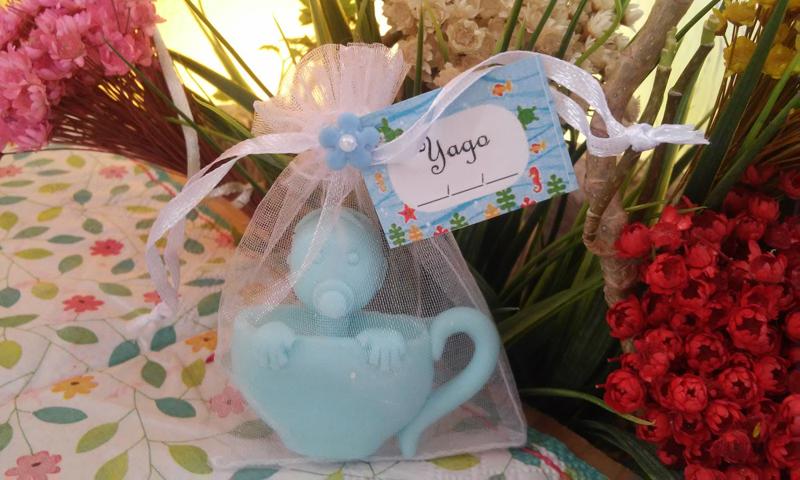 sabonete para lembrança de chá de bebe