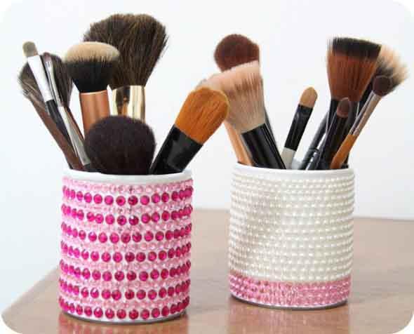 Como fazer porta pincel de maquiagem
