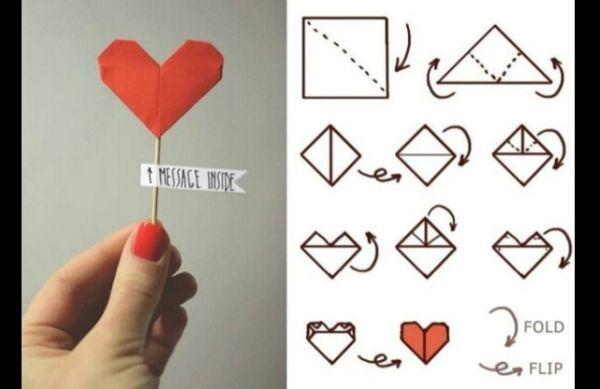 Como Fazer Dobradura de Coração
