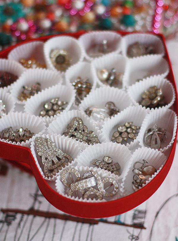 porta joias com forminha de cupcake