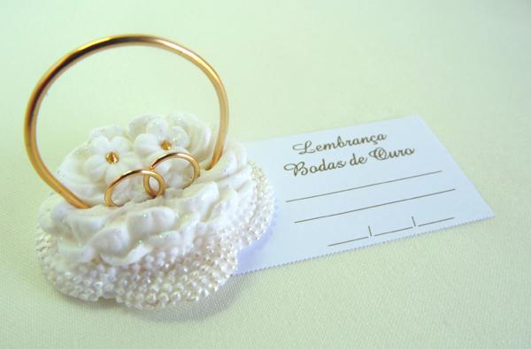 lembrança bodas de ouro cesta