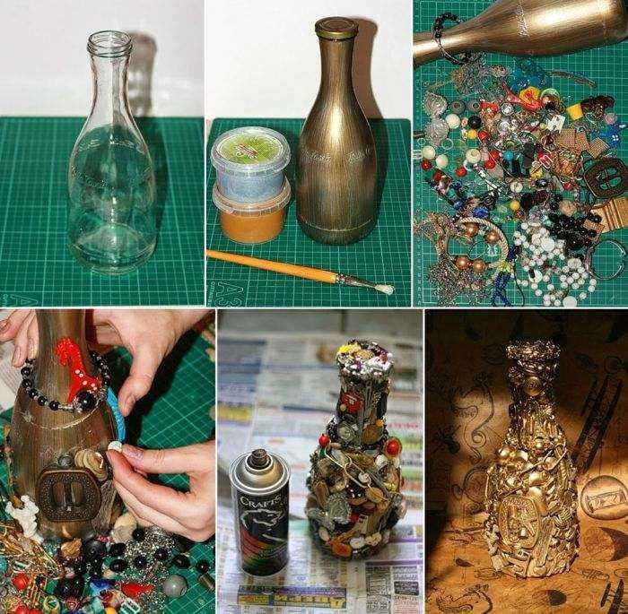 garrafa de vidro reciclada