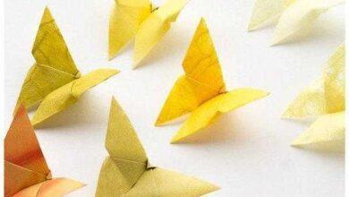 Como fazer Borboletas de Papel com Origami