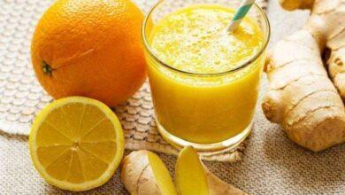 Foto de Suco de laranja com gengibre elimina toxinas e ajuda emagrecer.