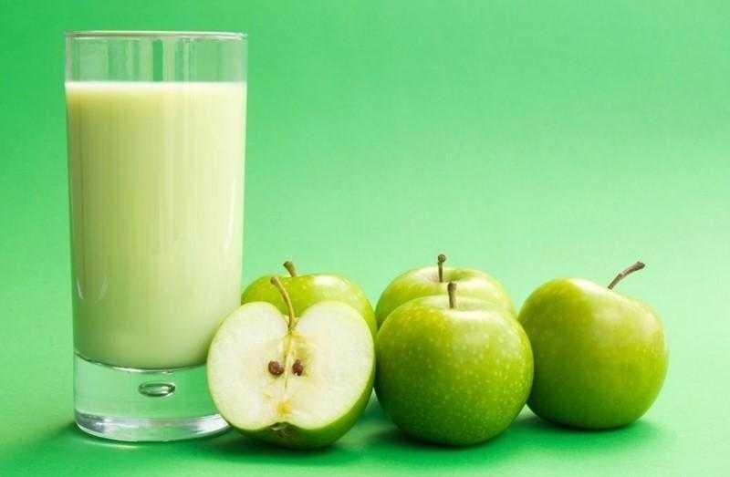 Suco detox de maçã verde para a dieta