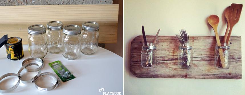 Como criar um porta talheres reaproveitando coisas velhas de casa