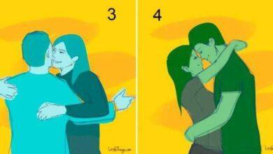 O modo de abraçar revela os segredos do casal rf