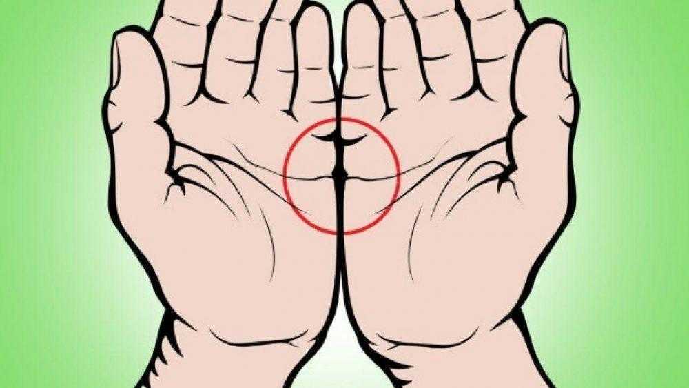 Olhe bem a sua mão! Isso é o que significa quando as duas linhas concentram