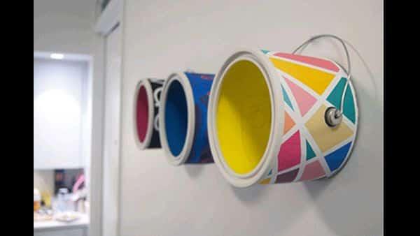 Como Fazer Artesanato com Latas de Tinta