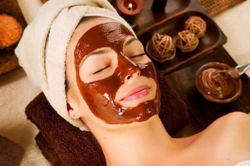 Máscara caseira de chocolate