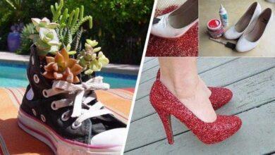 Foto de Ideias INCRÍVEIS para reciclar calçados velhos