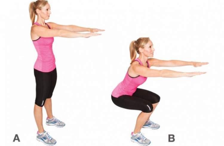 Agachamento básico é um dos melhores exercícios para levantar o bumbum