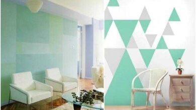 Foto de Como fazer estampas geométricas nas paredes