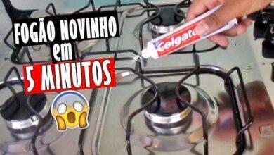 Foto de Descubra como tirar manchas do fogão com creme dental