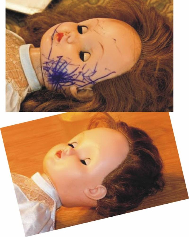 Comotirar mancha de caneta de uma boneca