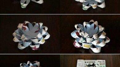 Foto de Como fazer laço de presente usando tiras de papel