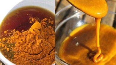 Anti-inflamatório caseiro de açafrão com mel