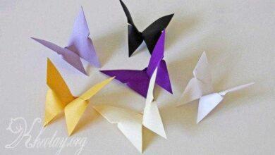 Como fazer Borboletas de Origami