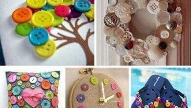 Ideias artesanais com botões de roupas s