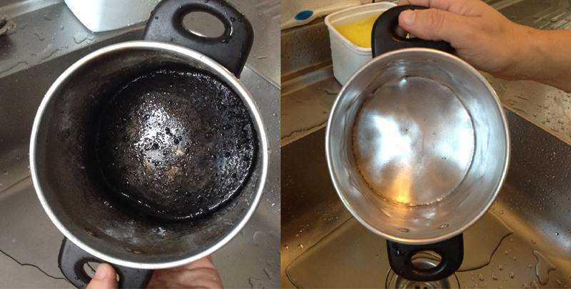 Receita caseira para limpar panelas queimadas