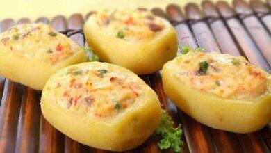 Foto de Receita da deliciosa batata recheada com camarão