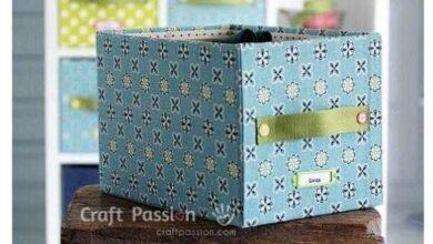 Como fazer caixa organizadora com material reciclável
