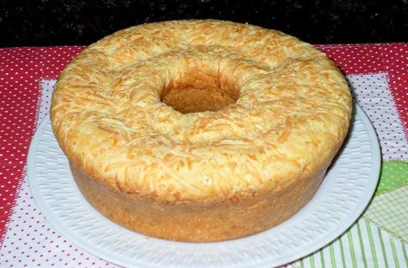 Receita de bolo pão de queijo