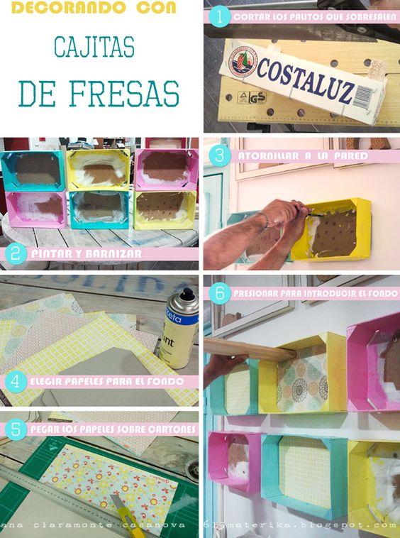 Ideias para transformar caixas de fruta em decorações fantásticas